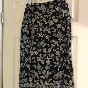 Talbots wrap skirt